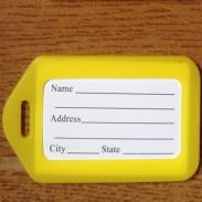 Value Plastic Luggage Tag