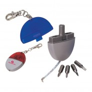 3 in 1 Tool Kit Tape Measure and Screw Driver Key Chains