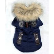 Pet Clothes With Thick Winter Clothing And Cloak With Thick Coat