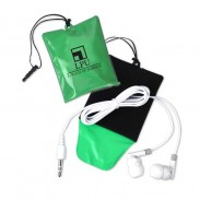 Cell Phone Cleaning Pouch w/Ear Buds