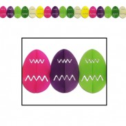 Hanging Decoration-Religious Easter Egg Tissue Garland
