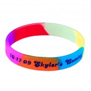 1/2 Inch Multicolor Debossed Colored Wristband