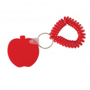 Apple Key Chain w/ Coil