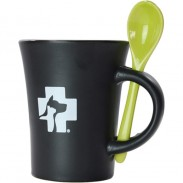 Customized Porcelain Coffee Mug CUP with Fork with DIY LOGO