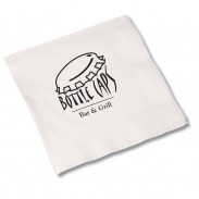 Beverage Napkin - 2-ply - White