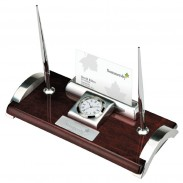 Clock, Business Card Holder & Pen Stand