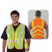 Compliant Chevron Design Stripe Mesh Safety Vest
