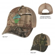 Cotton Hunter's Hideaway Mesh Back Camouflage Standard Cap