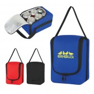 Customized Double Zippered Verve Six Pack Kooler Bag
