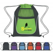 Customized Drawstring Sports Pack With Dual Pockets