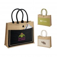 Customized Large Natural Jute Fabric Tote Bag