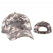 Embroidery Digital Camo Cotton Structured Baseball Cap