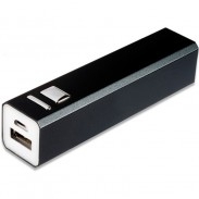 Promotional 2200mAh Capacity Power Bank with Square Matel Button