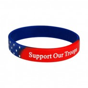 1/2 Inch USA Flag Rubber Wristband