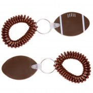 Football Key Chain w/ Coil