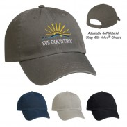 Promotional Gray Garment Washed Cotton Visors Chino Cap
