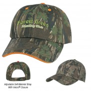 Customized Green Cotton Twill Standard Visors Camouflage Cap
