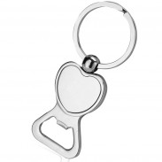 Heart-shaped Bottle Opener Keychain