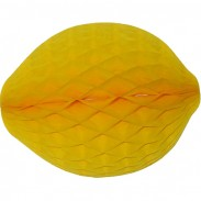 Honeycomb Lemon Decoration, 14 Inch