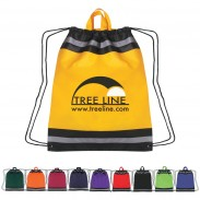 Large Non-Woven Reflective Drawstring Sportpack