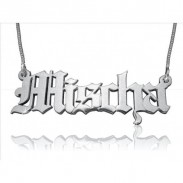 Olde English Gothic Name Necklace
