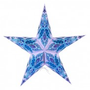 Dia 24 Inch Premium Patterned 5 Points Paper Star