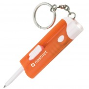 Multi-function Keyring Ballpoint Pen With Extra Bright LED Light