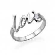 Personalized Love Ring in Sterling Silver