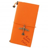Promotional In Pu Cover Recyled Notebook With Plane