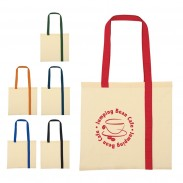 Promo Striped Economy Cotton Canvas Tote Bag