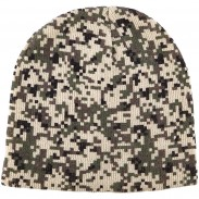 Promotional Embroidery Acrylic Digital Camo Knit Beanie