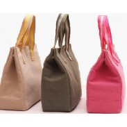 Promotional Insulated Thick Canvas Wearable Lunch Tote