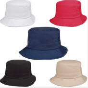Promotional PET Spun Fabric Fahion Visors with Bucket Cap
