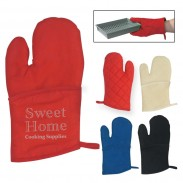Promotional Polyster Quilted Cotton Canvas Oven Mitt