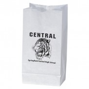 White Peanut Paper Bag