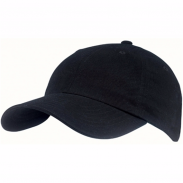 PromotionalBlack Brushed-Cotton Twill Visors Front Runner Cap
