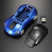 Race car mouse with Led front and wireless usb receiver