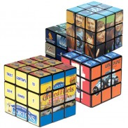PS Material AD Paster Cube (9 Panel) Size5.5*5.5*5.5