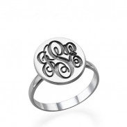 Monogram Signet Ring in Silver