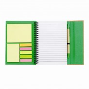"6"" W x 7"" H Spiral Notebook With Sticky Notes And Flags"
