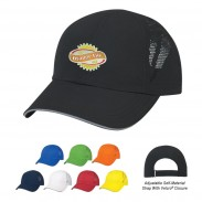Promotional Navy Sports Performance  Standard Visors Sandwich Cap