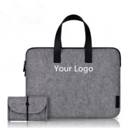 Customized Smart Computer Bags with Felt Belt with DIY LOGO