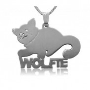 Cat Nameplate Necklace