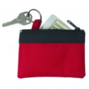 Zippered Coin Pouch Keytag