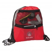 Zippered Mesh Pocket Drawstring Sportpack