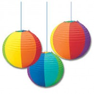Promotional Popular Rainbow Paper Lanterns