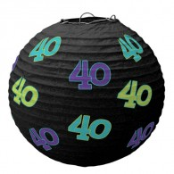 The Party Continues 40th birthday paper lantern