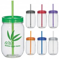 20 oz. Straw Mason Jar