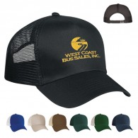 Customized Black 5 Panel Mesh Back Cotton Twill Visor Price Buster Cap