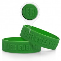 1.75 inch Embossed Silicone Sport Bracelet